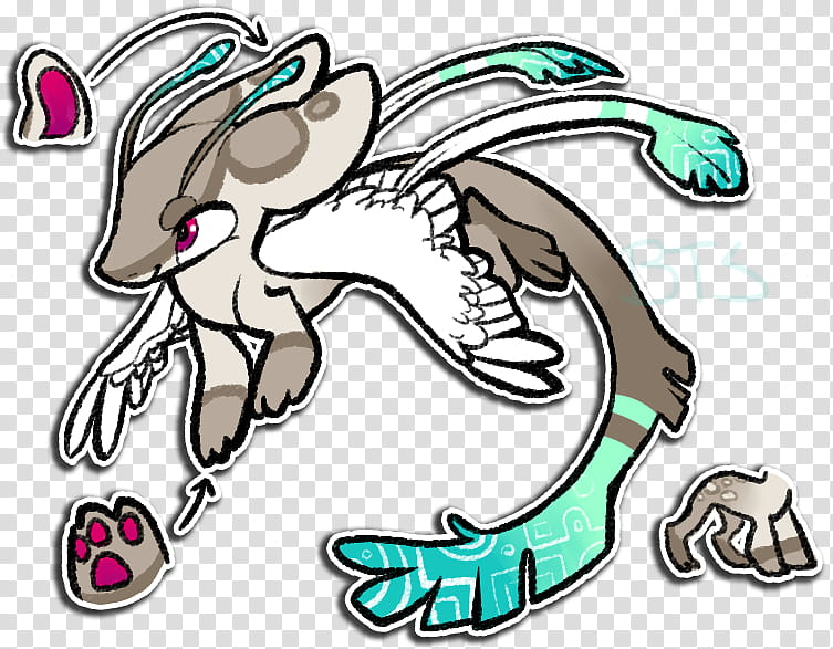 LeWildHizoran Custom Creature Design transparent background PNG.