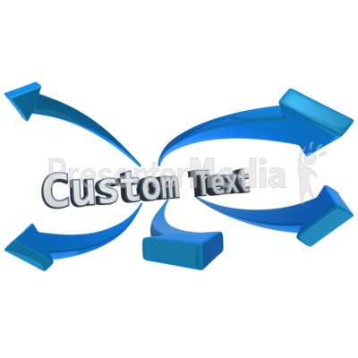 Word Arrows Custom Text.