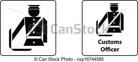 Vector of Officer custom control sign vector csp16744585.