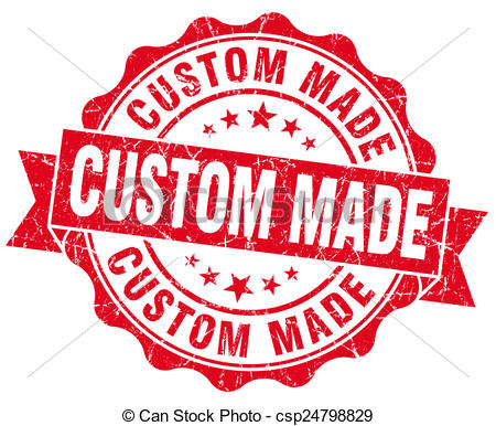 Clip Art of custom made red vintage isolated seal csp24798829.