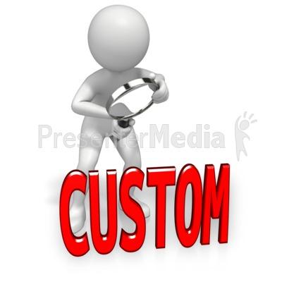 Custom clip art.
