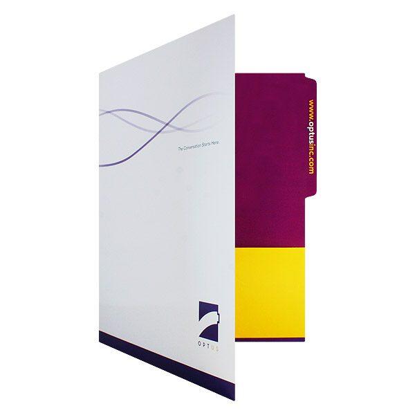 Folder Design: Custom Folders with Logo for Optus.