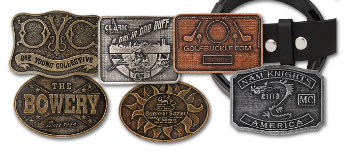 Custom Budget Zinc Belt Buckles.