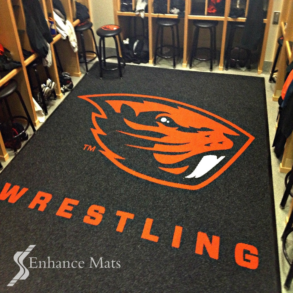 Logo Locker Room Carpet / Custom Carpet.