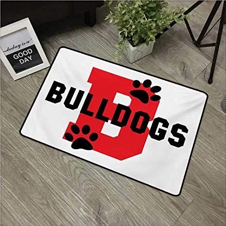 Amazon.com : Anzhutwelve English Bulldog,Funny doormats Paw.