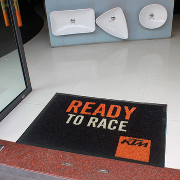 Custom Logo Printed Rubber Floor Carpet.