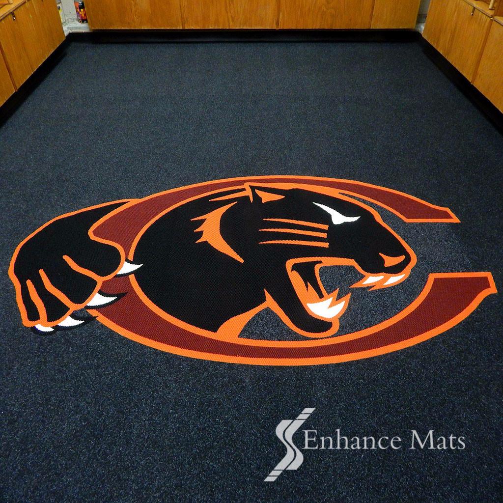 Logo Locker Room Carpet / Custom Carpet.