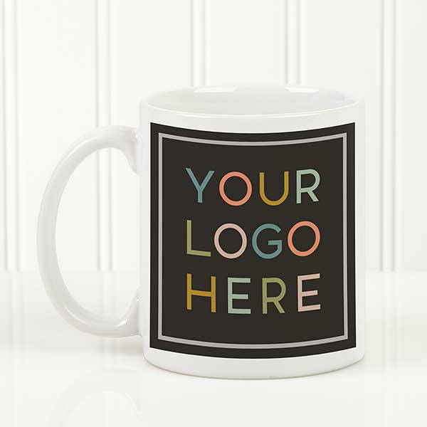 Your Logo Here Personalized White Coffee Mug.