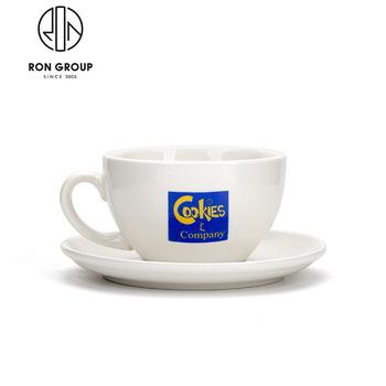 Wholesale Custom Logo Ceramic Coffee Mug With Saucer.