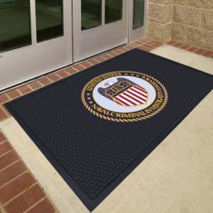 Embossed Rubber Printed Logo Custom Promotion Branding Marketing Carpet  Welcome Door Floor Mats.