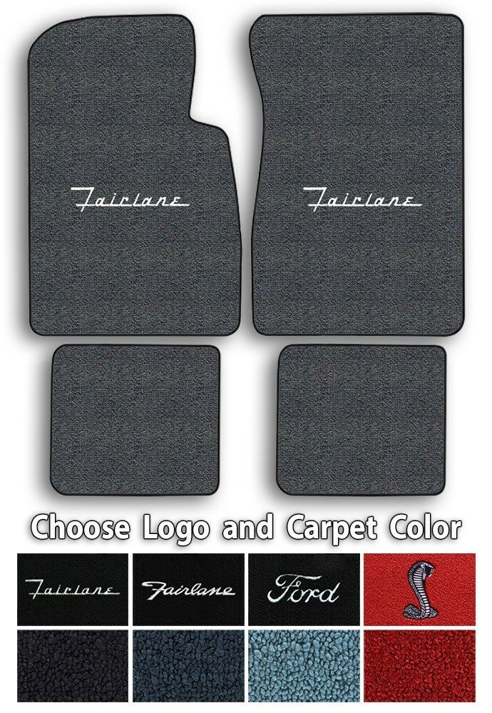 Details about Ford Fairlane Custom Logo Loop Carpet Floor Mats.