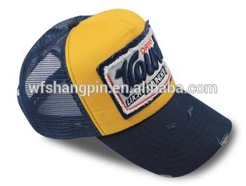 Custom Logo Designed 3d Embroidery Trucker Hat Wholesale 5 Panels Mesh Cap.
