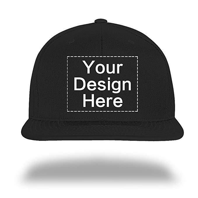 Custom Baseball Cap Snapback Hiphop Hats Design Your Text Name or Logo.