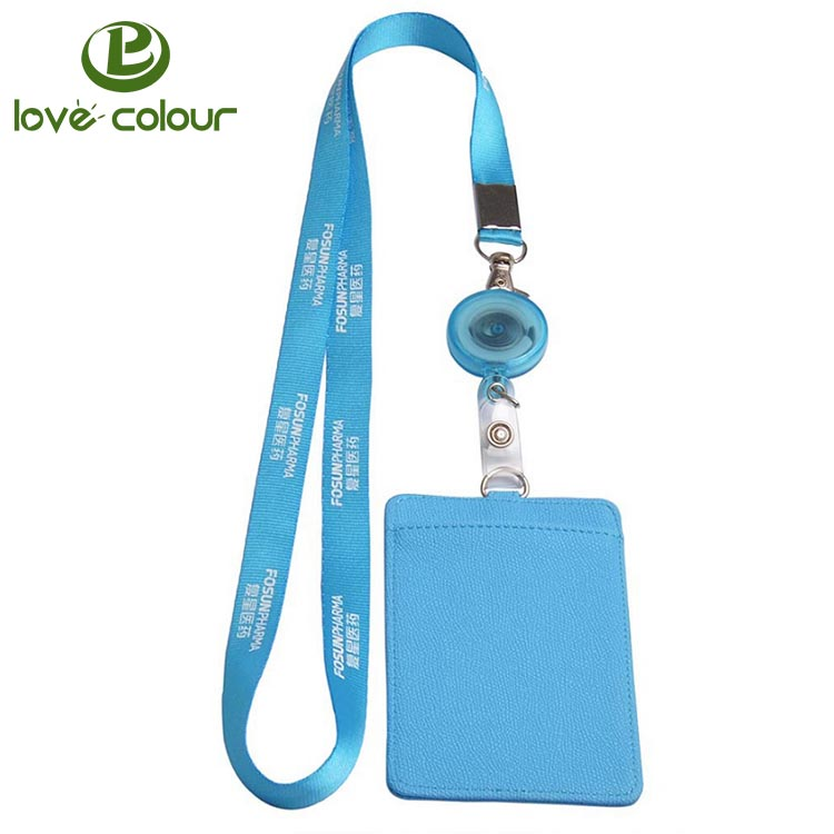 Polyester Custom Logo Lanyards With Id Card Badge Holder.