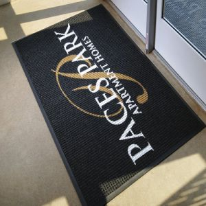 Custom Logo Promotional Rubber PVC Polyester Indoor Outdoor Welcome  Entrance Customized Personalized Promotion Printed Doormats Floor Door Mats.