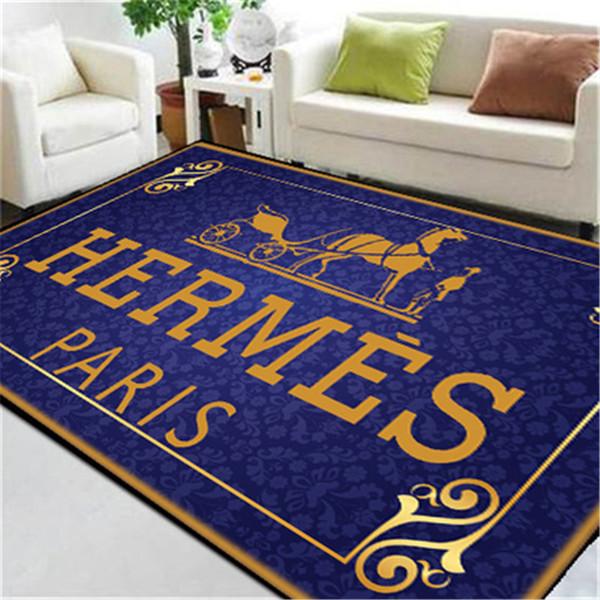 Blue Print Horse Print Carpets Big Size New Custom Made Carpet Popular Logo  Rug Letter Rectangle Footcloth Carpet Color Samples Patterned Carpets.