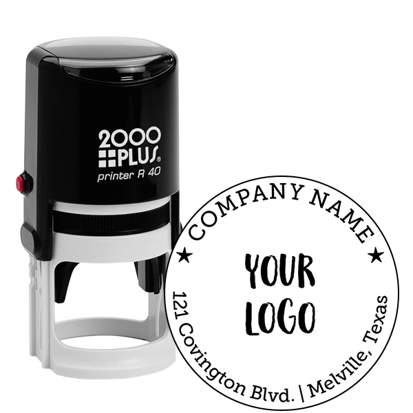 Round Logo Stamp with Custom Text.