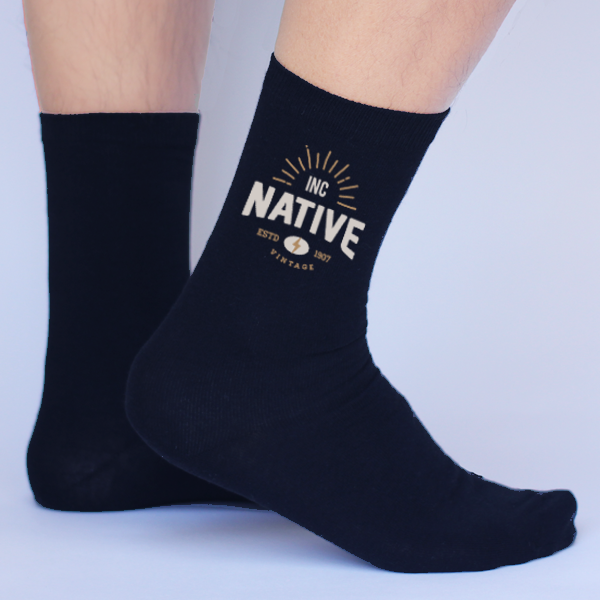 Custom Printed Personalized Socks Mens LARGE.