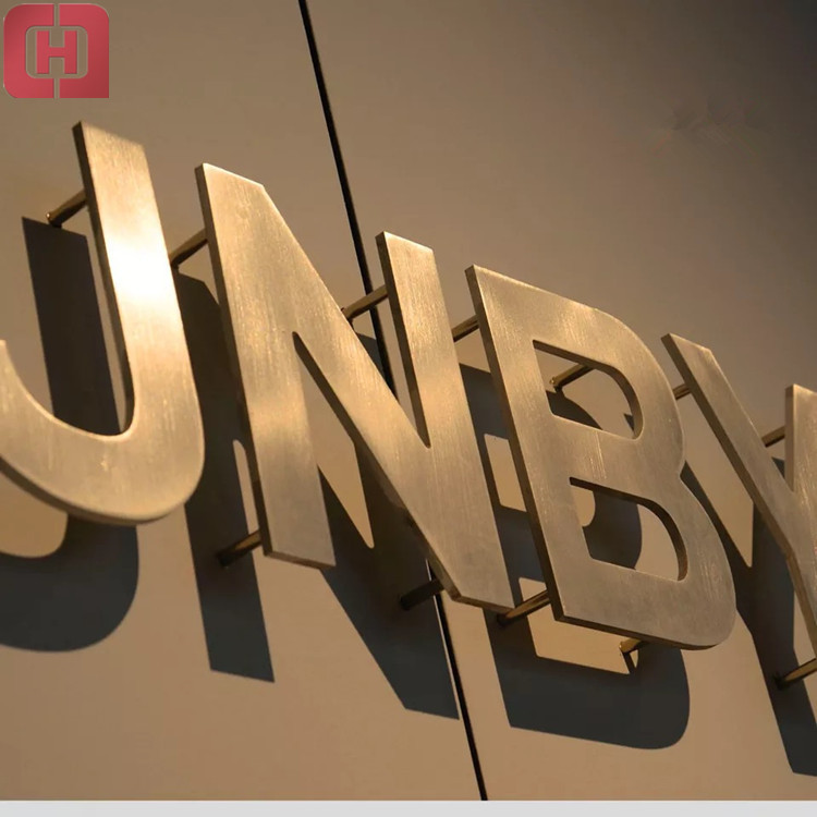 Wall Mounted Stainless Steel Letters 3d Custom Metal Signs For Advertising.
