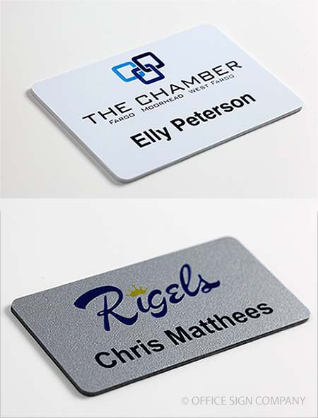 Logo Name Tags.