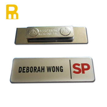 Best Selling Custom Logo Cheap Blank Metal Name Tag.