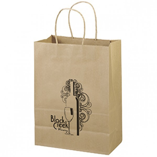 Custom printed recycled paper bag.
