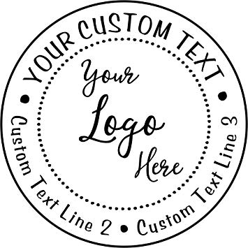 Custom Logo Round Stamp.