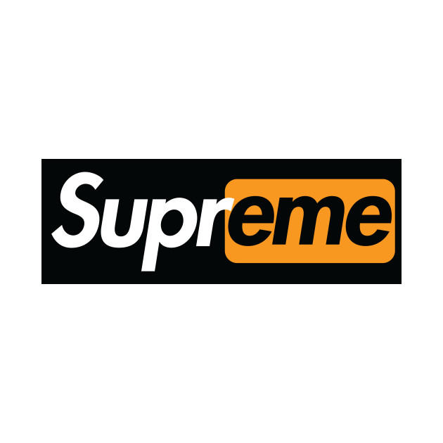 supreme logo with whatever text you like for $7.