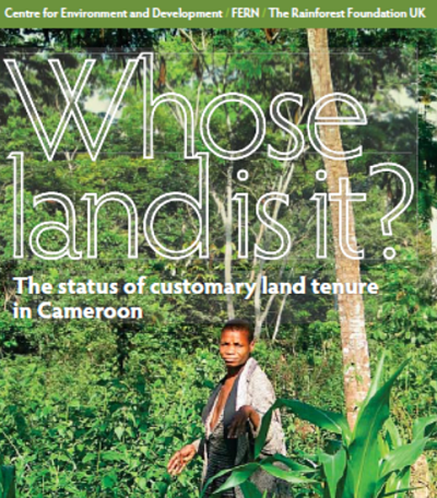 Whose land is it? The status of customary land tenure in Cameroon.