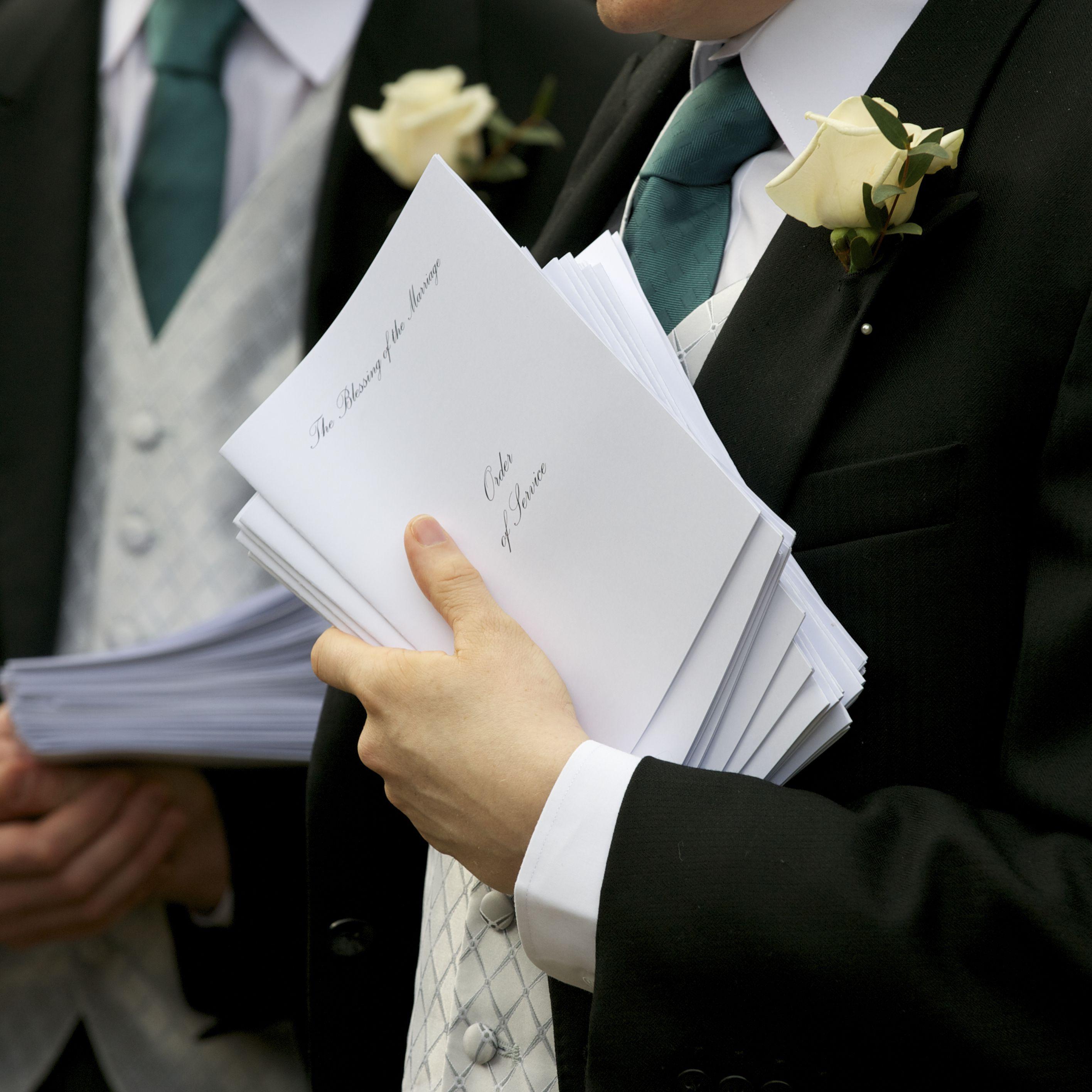 How to Create a Wedding Program.