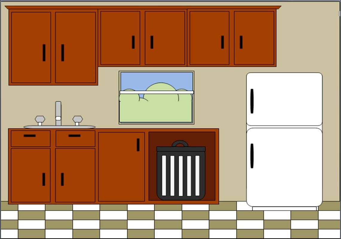 Kitchen Cupboard Clipart.