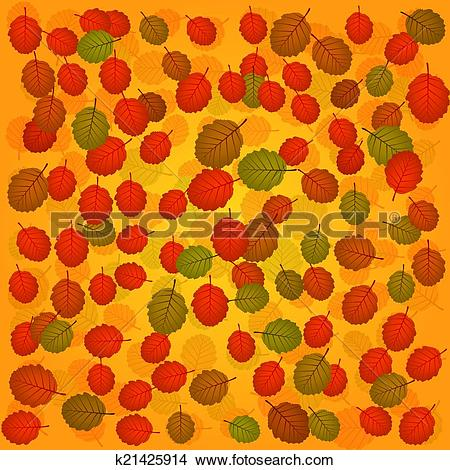 Clipart of vector seasonal background with alder detailed leaves.