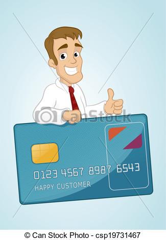 Clip Art Vector of Happy Customer.