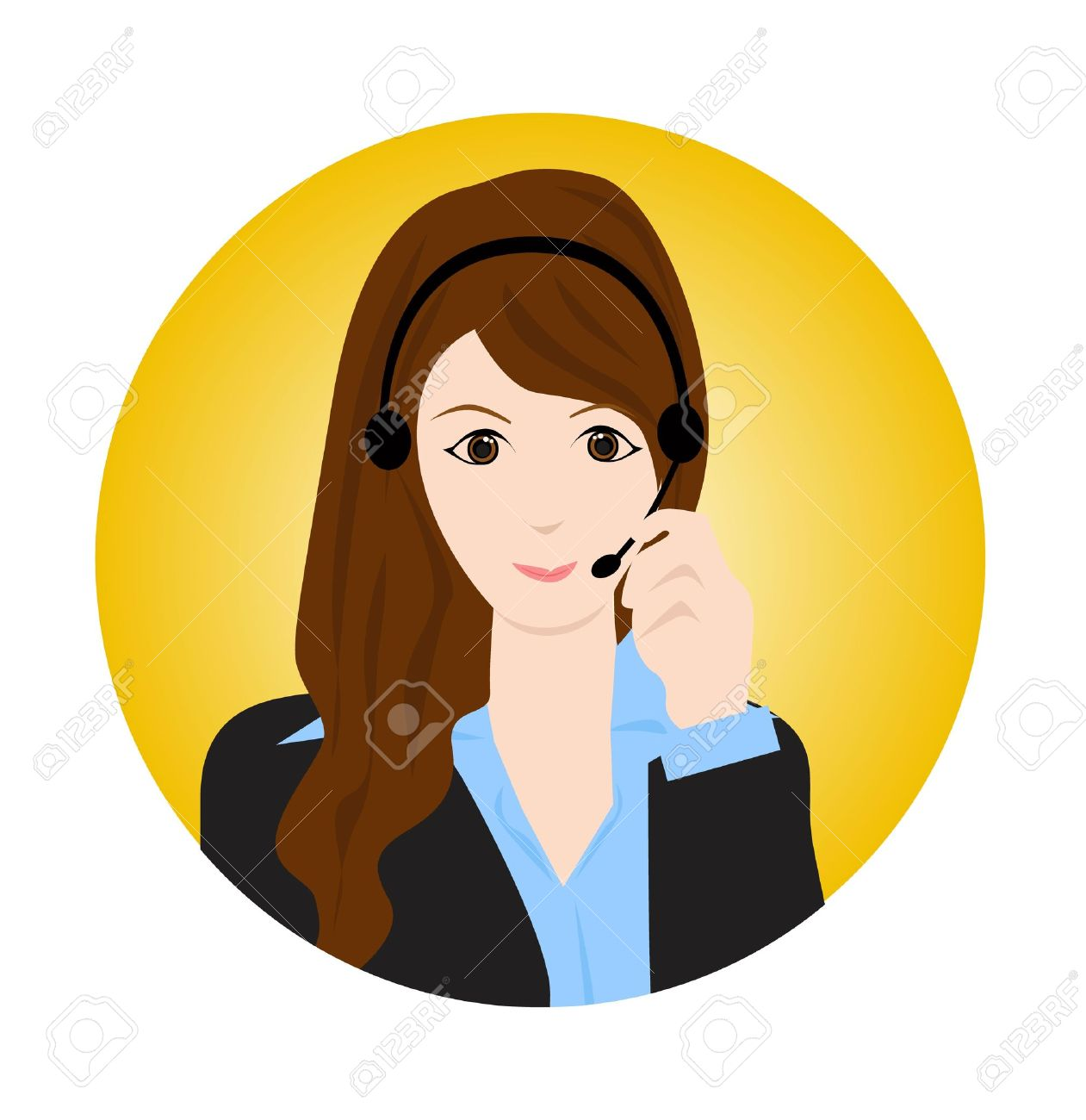 Customer service agent clipart 1 » Clipart Station.