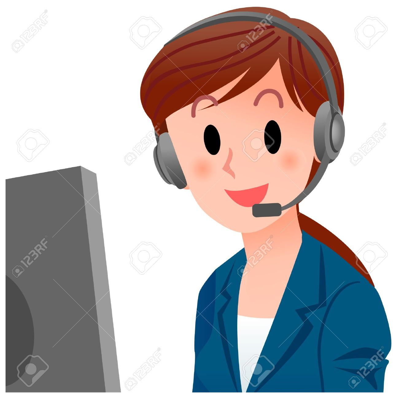 Customer service agent clipart 10 » Clipart Station.