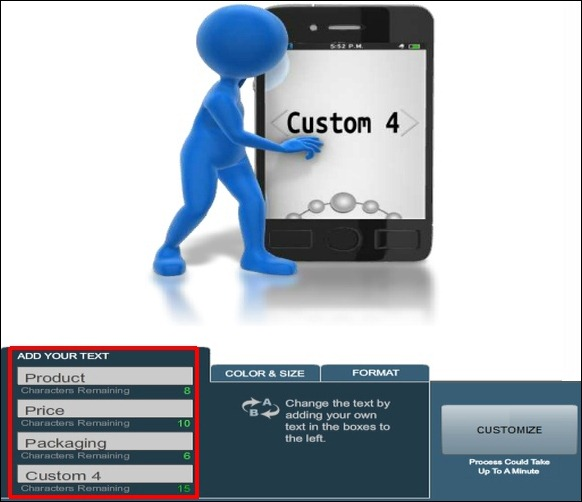 Create Custom Smartphone Clipart For PowerPoint With Swipe Effect.