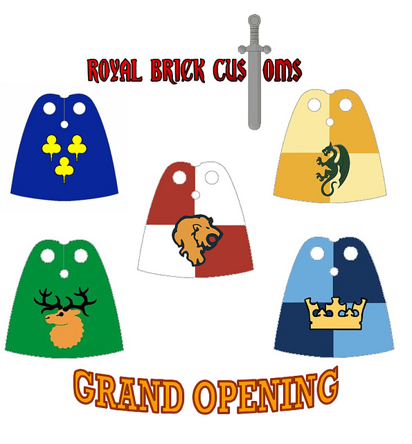 NEW: Royal Brick Customs Shop (Custom Castle Capes, Tabards and.