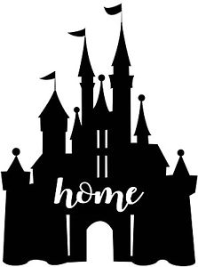 Custom Vinyl Decal Run Disney Castle Home Mickey Walt Cinderella.