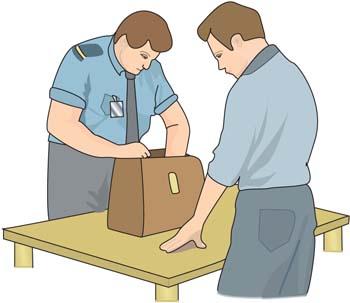 Clipart customs officer.