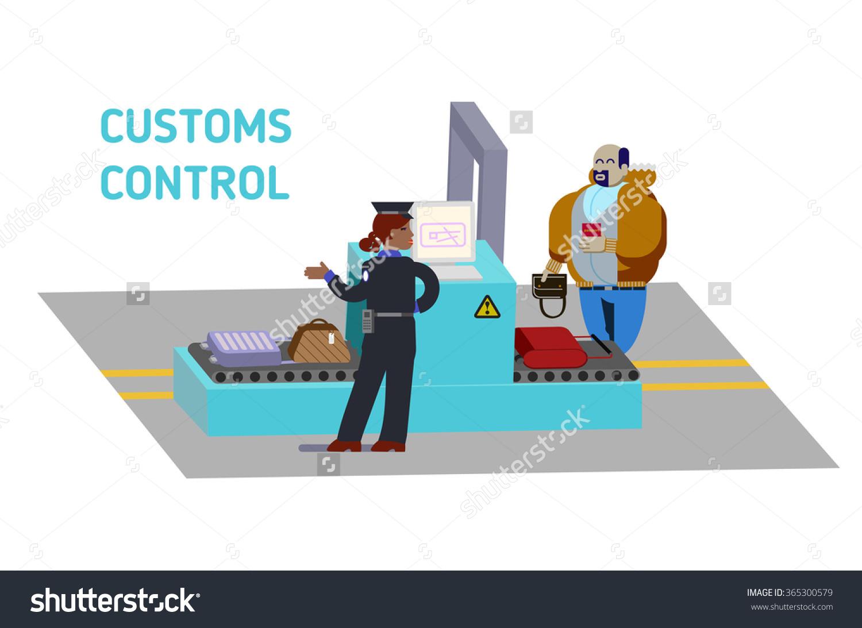 Customs officer clipart.