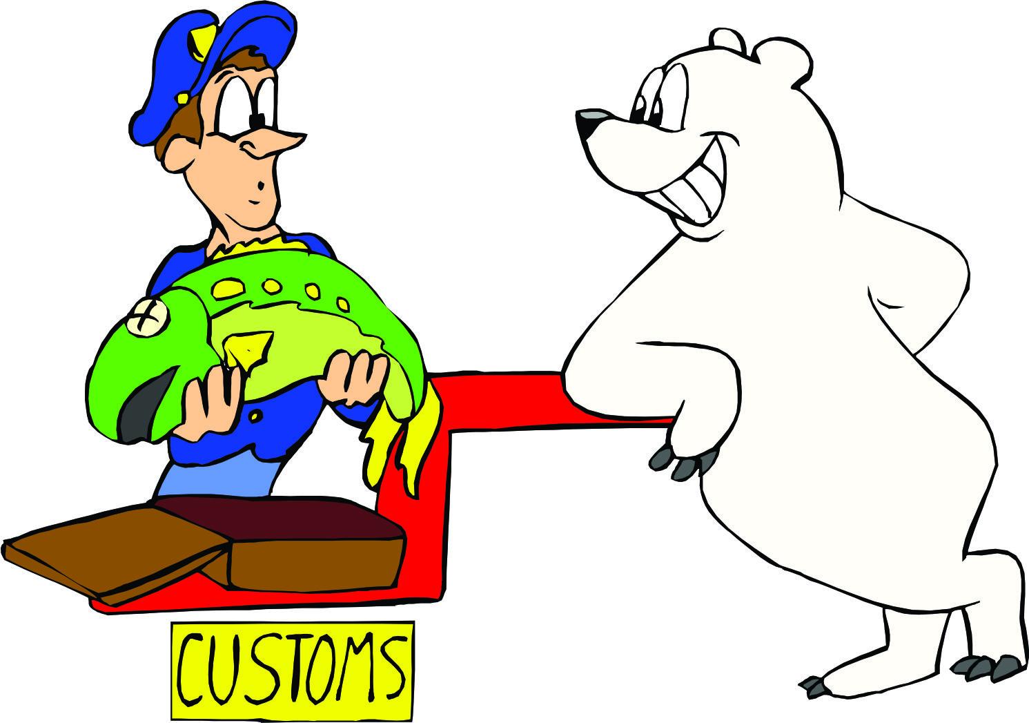 Customs clipart.