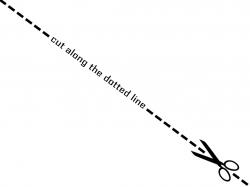 Cut clipart dot line, Picture #858087 cut clipart dot line.