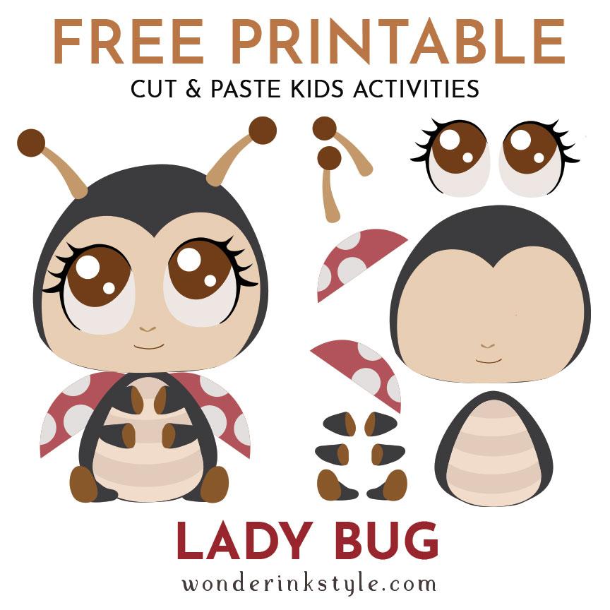 Free Kids Printable DIY Cutting Pasting Toddler Baby Activities.