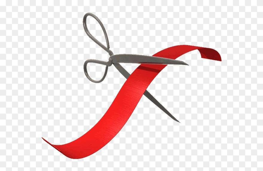 Clip Cut Ribbon Clip Black And White Stock.