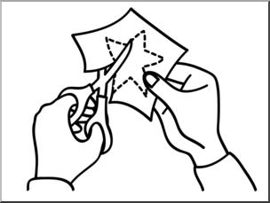 Clip Art: Basic Words: Cut B&W Unlabeled I abcteach.com.