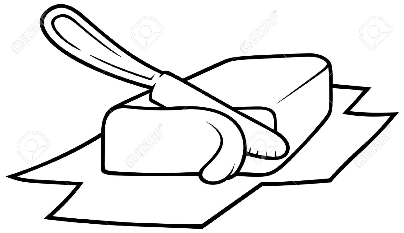 Cut clipart black and white 1 » Clipart Station.