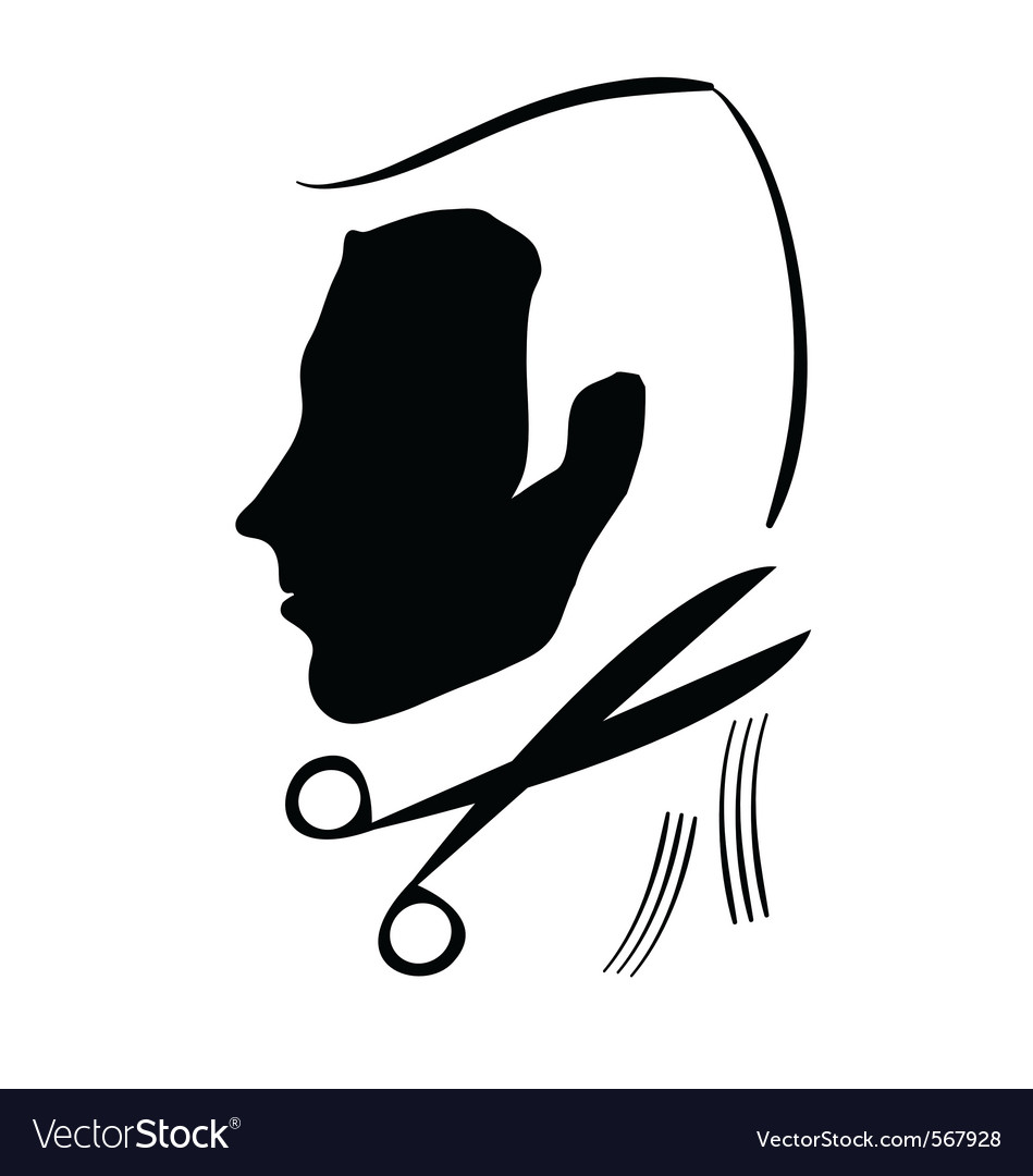 Hair cutting symbol.