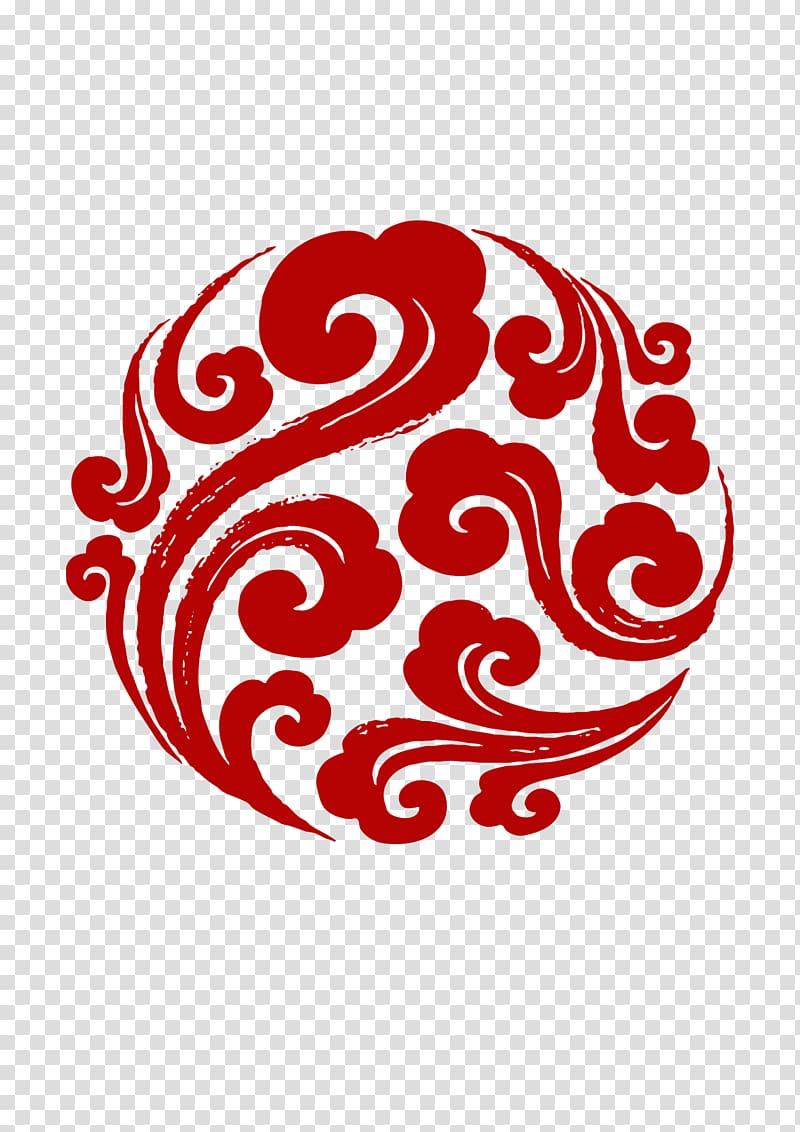 Cloud Adobe Illustrator Euclidean , Red paper.