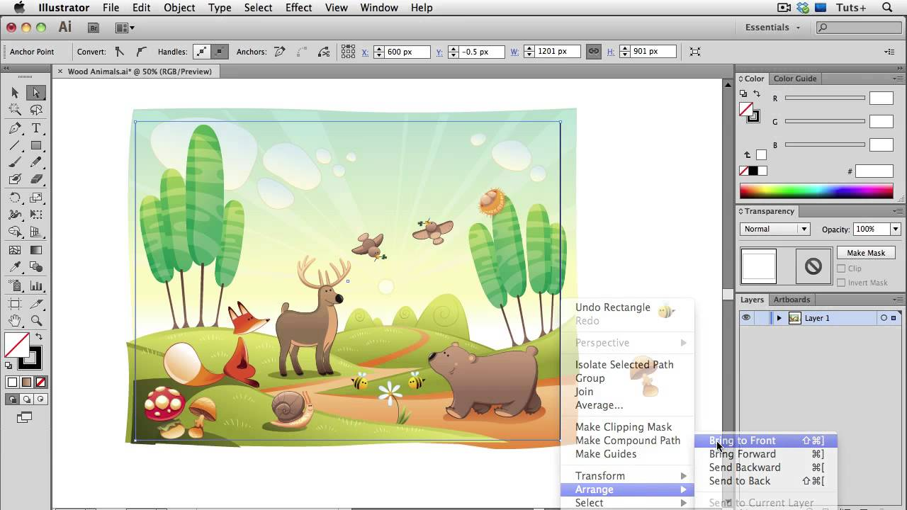 Quick Tip: Four Ways to Crop a Vector Illustration in Adobe Illustrator.