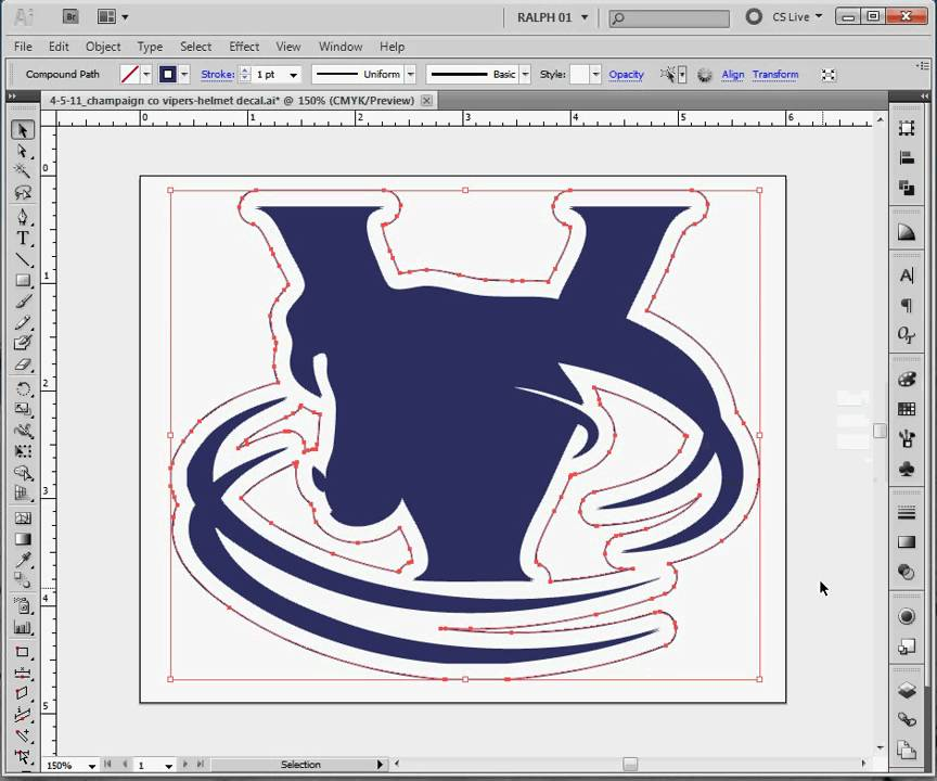 Decal Cutting Path Step 1: Making a Contour Path from Artwork.